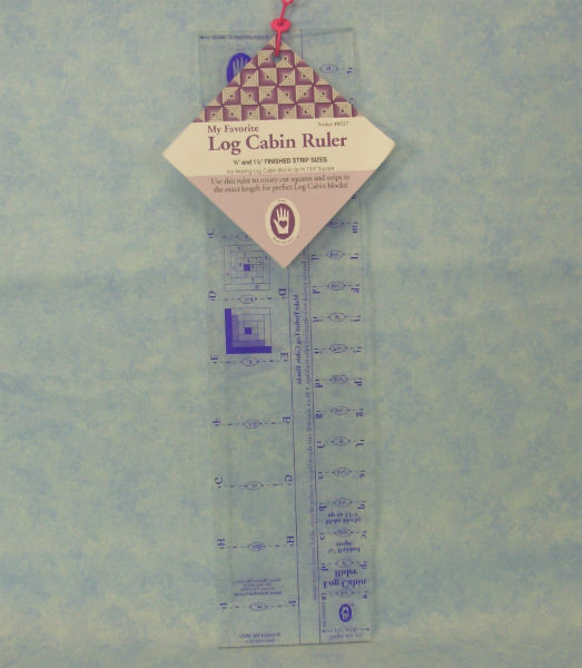 "marti michell log cabin ruler 3/4 "" and 1 1/2 "" finished strip siz"