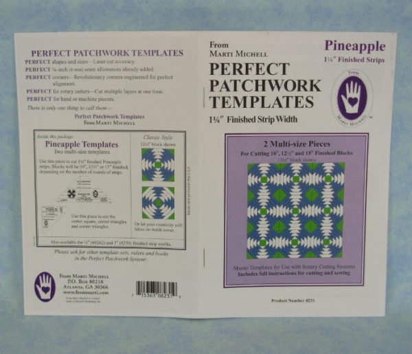 """marti michell pineapple 1 1/4 """" finished strips"""