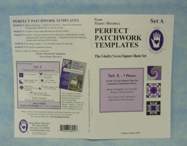 marti michell perfect patchwork templates set a