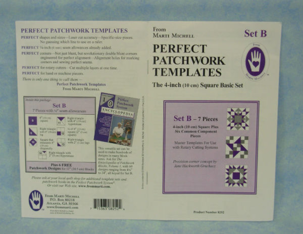marti michell perfect patchwork templates set b