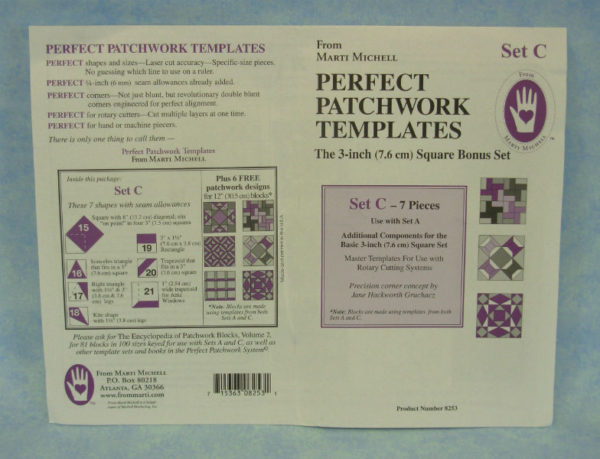 marti michell perfect patchwork templates set c
