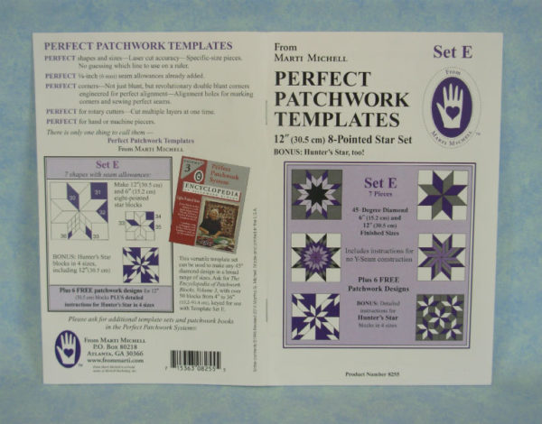 marti michell perfect patchwork templates set e