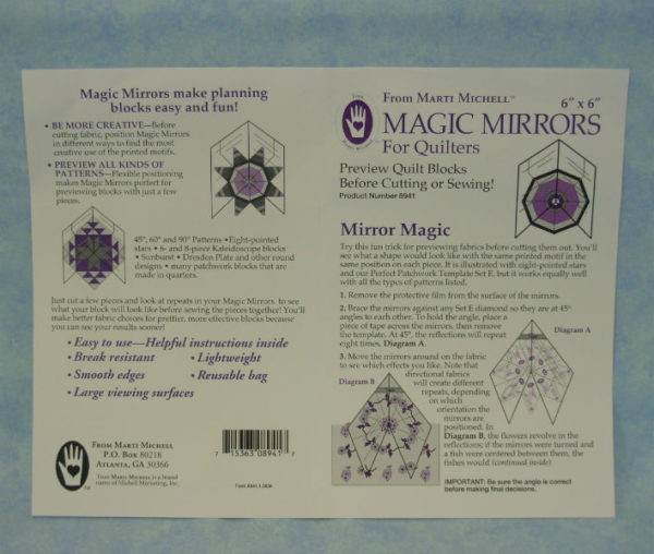 "marti michell magic mirrors 6 "" x 6 """