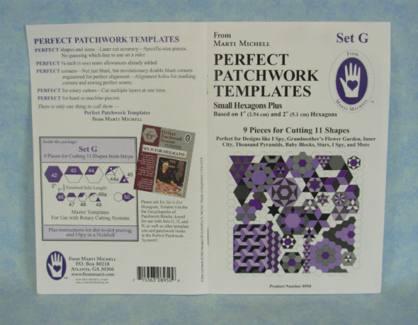 marti michell perfect patchwork templates set g