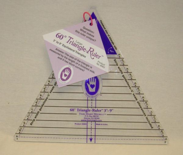 marti michell  60 triangle  ruler