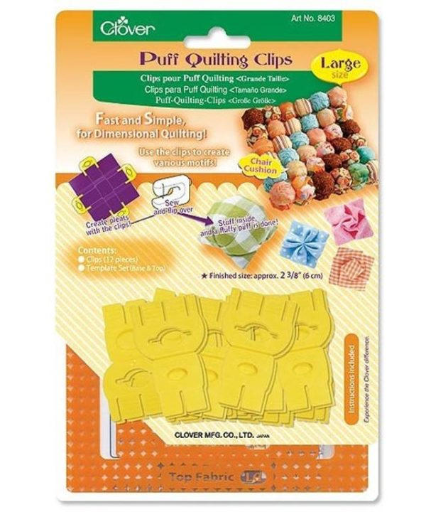 Clover puff quilting clips 8403