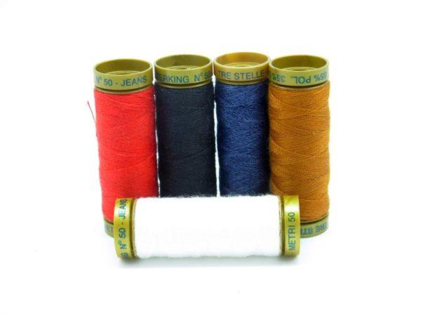 Cucirini Tre Stelle Terking kit 5 colori