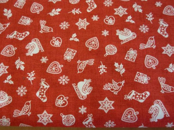 Tessuto di Natale tan 035