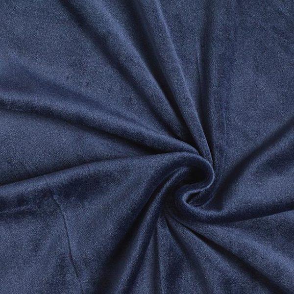 Tessuto in micro pile tinta unita colore blu notte