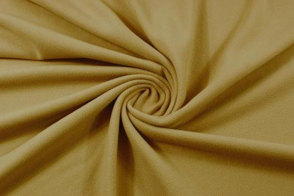 Tessuto in micro pile tinta unita colore cammello