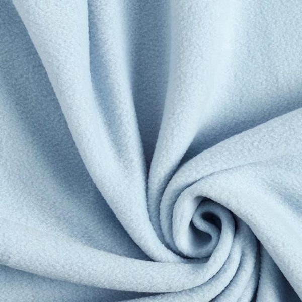 Tessuto in pile colore azzurro